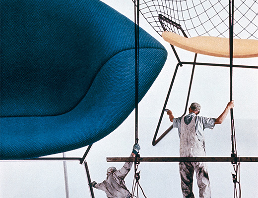 Poster of Bertoia Diamond Chair with Painters