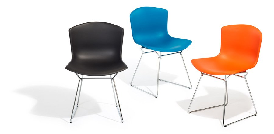 Bertoia Molded Shell Chair Plastic Side Chair by Knoll