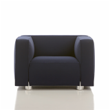Barber Osgerby Armchair Lounge Collection Edward Barber & Jay Osgerby chrome feet