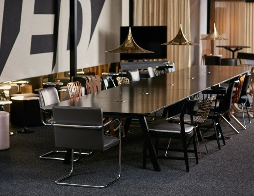 neocon showroom 2017 rockwell unscripted library table knoll seating unscripted pavillion immersive planning