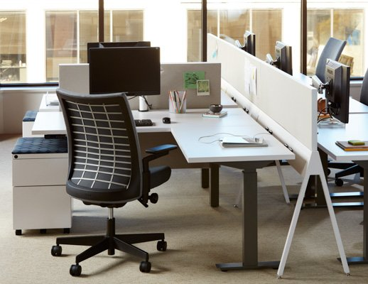adaptable ergonomic height adjustable focused individual open plan workspace power electric solutions