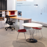Template workstation with Noguchi Cyclone Table and Bertoia Side Chair