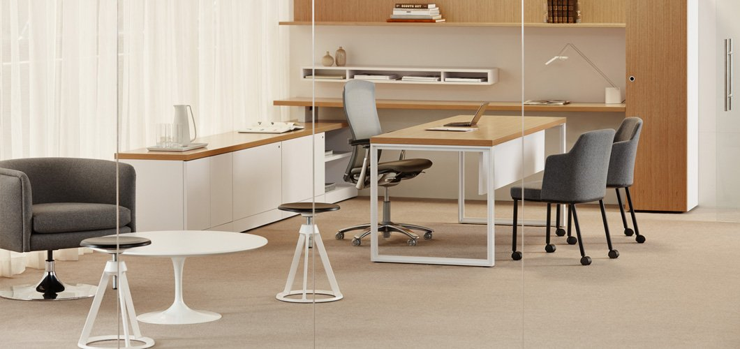 Reff Profiles with Piton Stool Remix Side Chair Durso and Saarinen Coffee Table