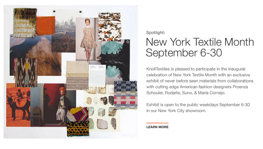 KnollTextiles at New York Textile Month
