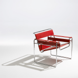 Breuer Wassily chair with  Simply red Spinneybeck belting leather