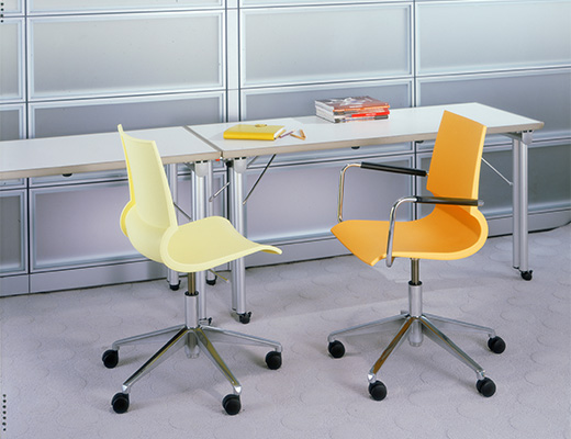Maran Gigi Swivel Chair and Emanuela Frattini Propeller Training Table