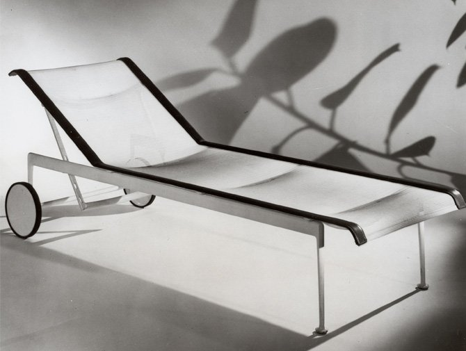 1966 adjustable chaise knoll. Black Bedroom Furniture Sets. Home Design Ideas