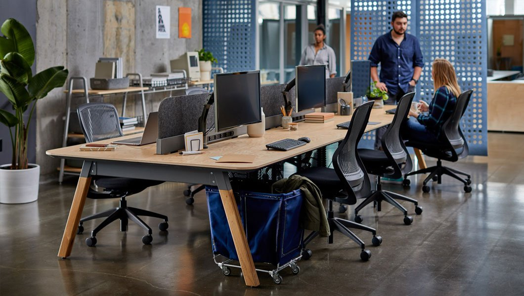 Knoll Open Plan Workstation Furniture with Rockwell Sawhorse Work Bench