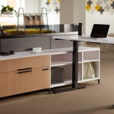 Height Adjustable Touchdown Workstation with Keyless Storage