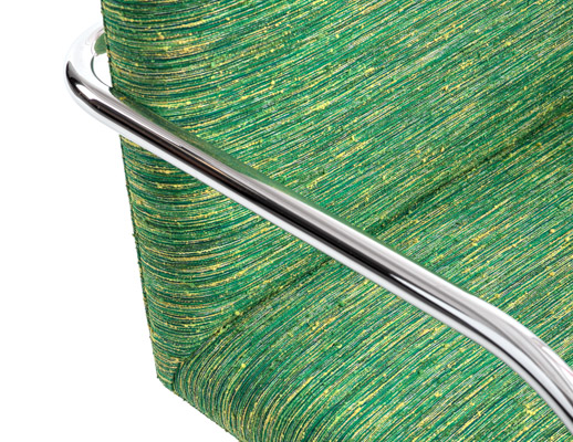 KnollTextiles Contour Code Upholstery Chair Dorothy Cosonas fabric contour collection green upholstered chair texture textured space dyed