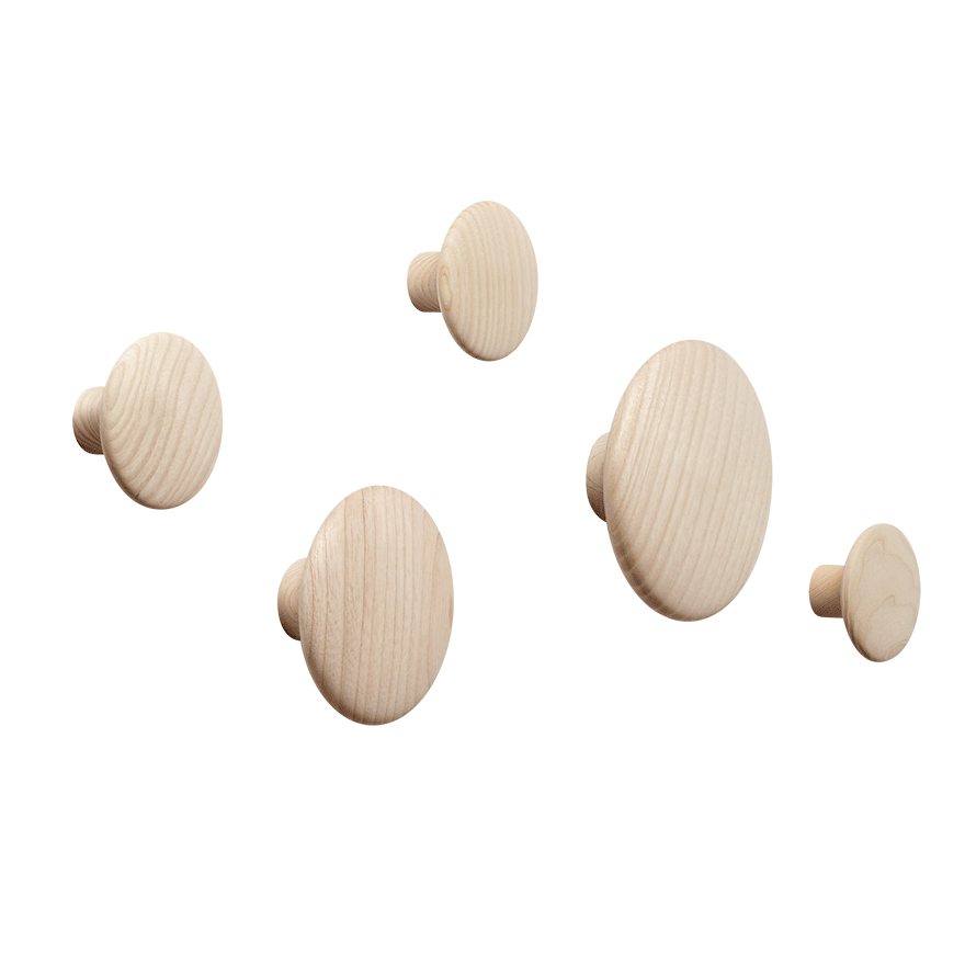 Dots Wood Coat Hooks