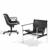 Knoll Leather Pollock Sling Chair and Executive Chair