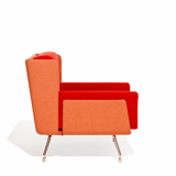 Architecture & Associés Contract Lounge Chair in orange and red
