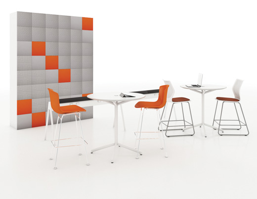 wallcovering sound acoustical privacy team meeting flexible power casual social acoustic tile