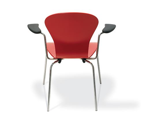 Exceptionnel ... Knoll Red Sprite Stacking Chair ...