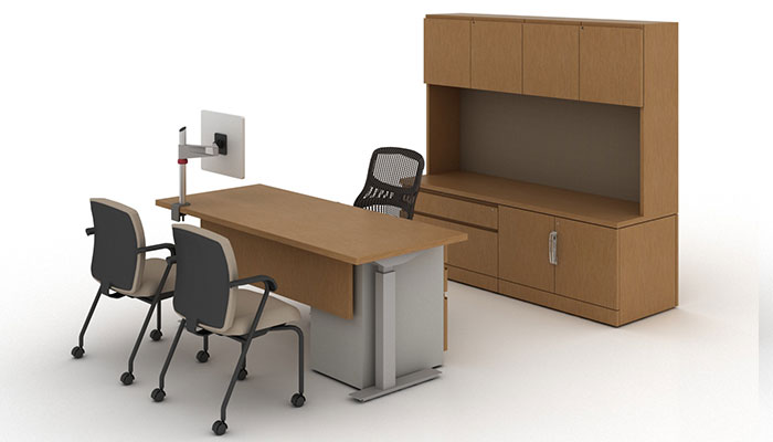 Chairs Reff Profiles 1 Private Office With Tone Height Adjustable Desk Generation By Knoll