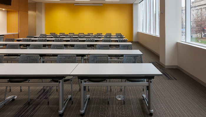 ... Propeller® Training Tables with MultiGeneration by Knoll® Stacking Base Chairs & Shared Spaces   Design and Planning   Knoll