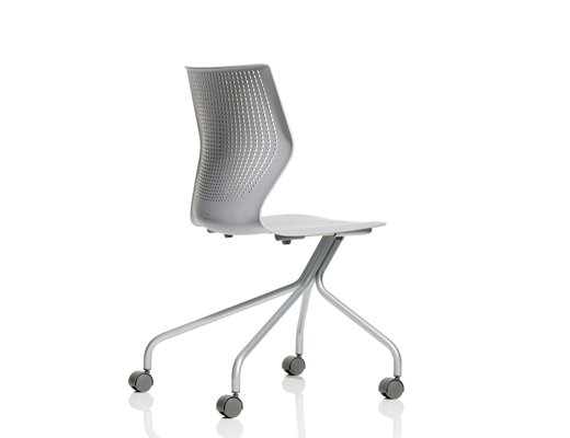 MultiGeneration by Knoll grey Stacking Chair