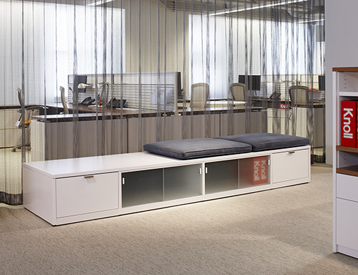 Template benching for open plan office