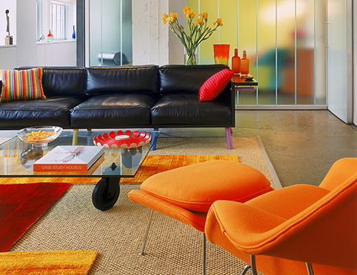 Eero Saarinen Womb Chair and Salsa Sofa Colllection
