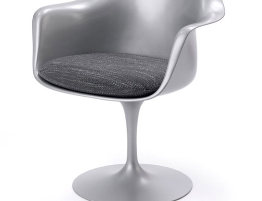 Tulip Arm Chair in Platinum finish