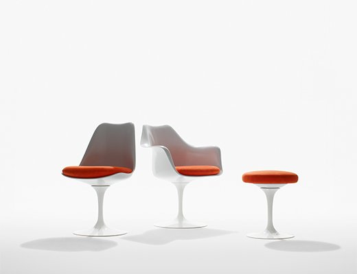 Saarinen Tulip Chairs and Stool