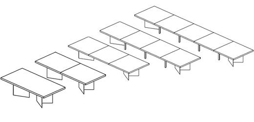 LSM Conference Table Series V-Base| Knoll