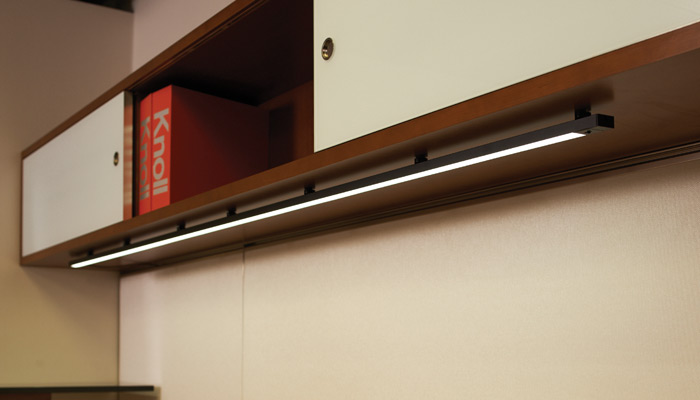 Highwire™ is an undercabinet light ideal for private offices or under storage units