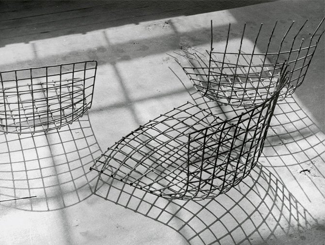 Bertoia Wire Chair bertoia bird chair | knoll