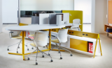 workstation group meeting team meeting collaborative flexible height adjustable sit-to-stand