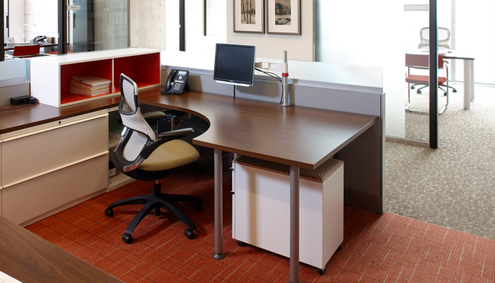 Upstart® Table with Series 2 Storage and Generation by Knoll® Task Chair