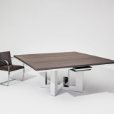 DatesWeiser Highline Fifty Meeting Table Brno Chair flat bar