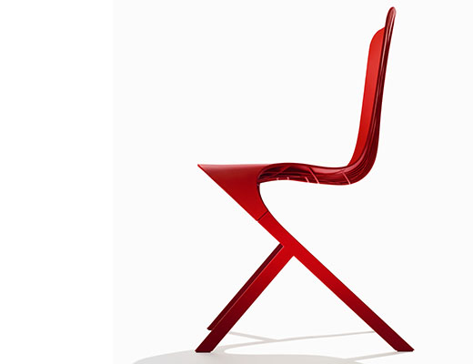 Washington Skin Chair in red finish