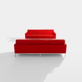 Florence Knoll Sofa in Cato red Upholstery