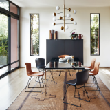 bertoia leather covered side chair florence knoll dining table florence knoll vertical storage