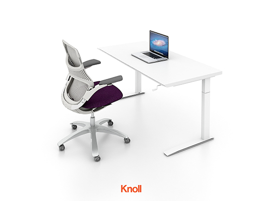 Knoll Height Adjustable Table