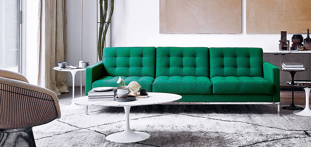 Florence Knoll Relaxed Sofa and Settee