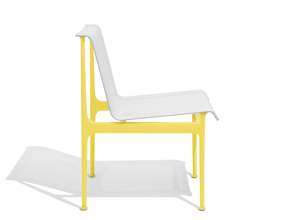 1966 Collection Dining Armless Chair yellow Richard Schultz patio outdoor furniture