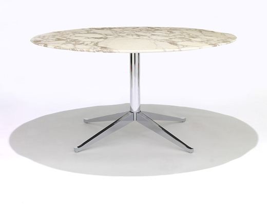 Florence Knoll marble Table Desk with chrome base