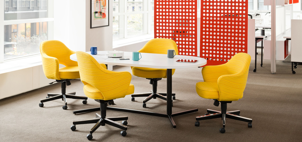 Antenna Workspaces Y Base Tables and Desks for the Open Plan and Private Office by Knoll