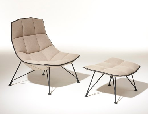 Exceptionnel ... Jehs+Laub Lounge Chair With Wire Base In White Cornaro KnollTextiles  Upholstery ...