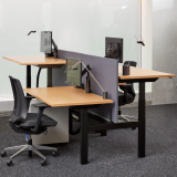 neocon 2018 hospitality at work k. bench k. task sapper XYZ monitor height adjustable benching