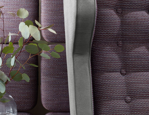 The Hallmark Collection KnollTextiles Installation Calypso Myth Polyester Nylon Recycled Polyester multi-use upholstery novelty yarn tri-colored texture purple gray grey Storm Acrylic Recycled Cotton solid
