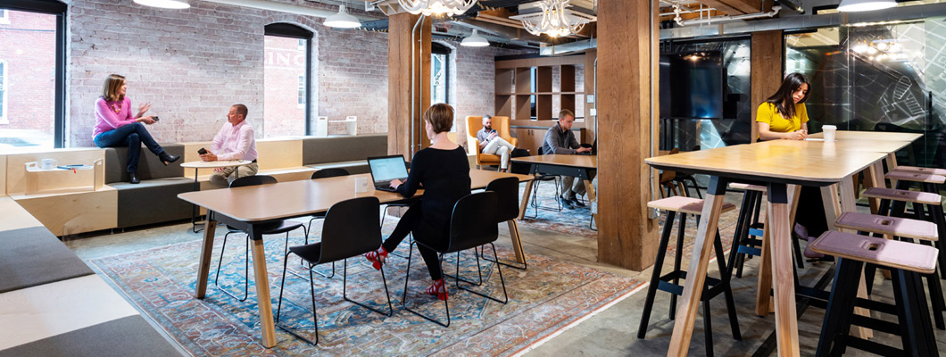 Knoll Workplace Collections featuring Rockwell Unscripted