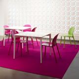 Stromborg Table and Olivares Side Chair Filzfelt felt floor covering