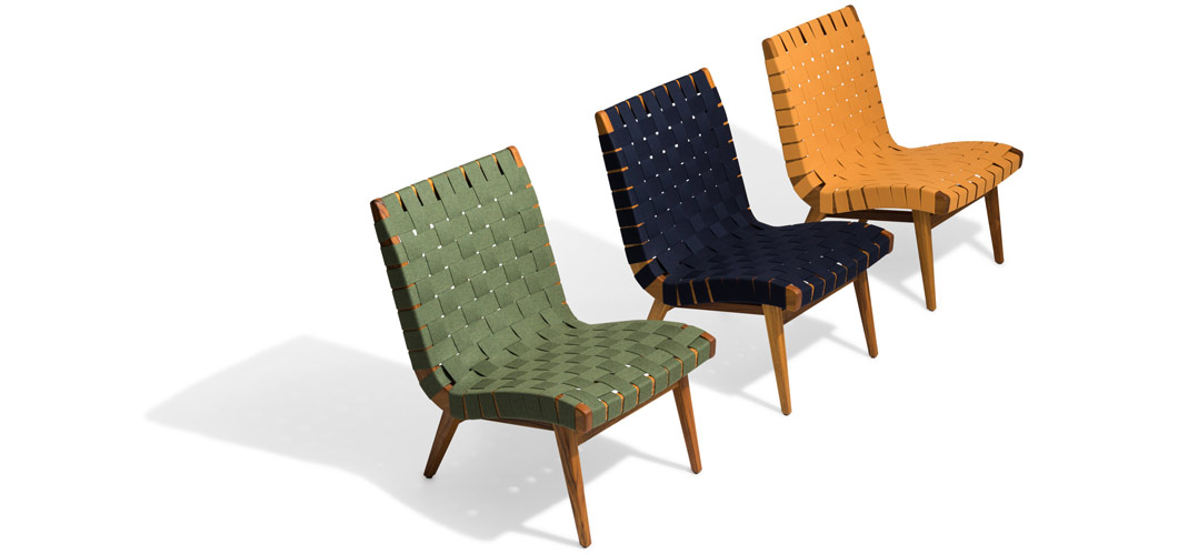 Knoll Risom Outdoor Lounge Chair by Jens Risom