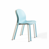 Olivares Aluminum Chair for Knoll in blue