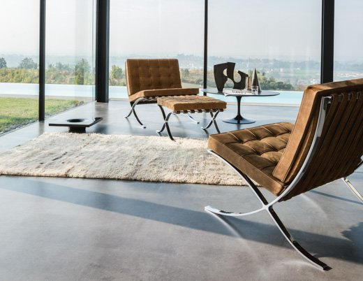 lounge area living room classics knollstudio residential residence home spinneybeck lucca leather