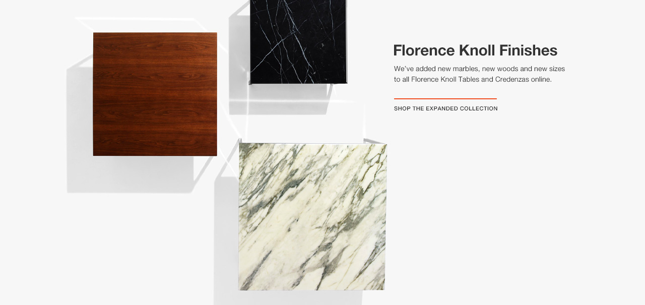 Florence Knoll Table Finishes Expanded Online