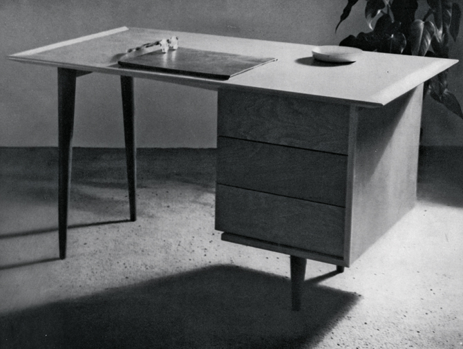 Vintage Florence Knoll Desk history photo